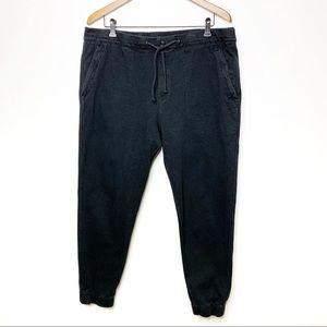 J. CREW Men's Black Cotton Jogger Pants Drawstring